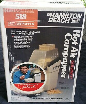 Hamilton Beach Scovill Hot Air Cornpopper Popcorn Maker Model 518 USA NIB
