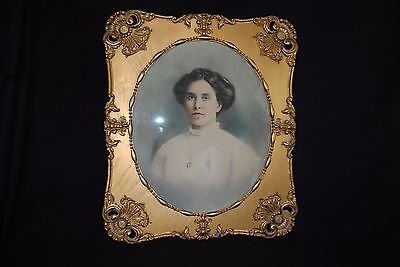 Mid 19th Century Very Large Oval Gold Gilt Large Picture Frame