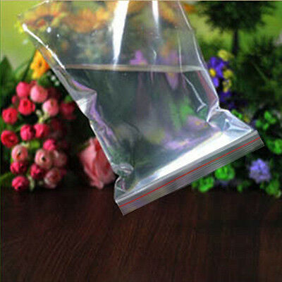 1pcs Ziplock Zip Zipped Lock Reclosable Plastic Poly Clear Seal Bags
