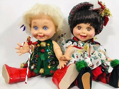 Galoob Baby Face Heidi & Dee Dee Xmas Outfits Retired Collectable 1990-91