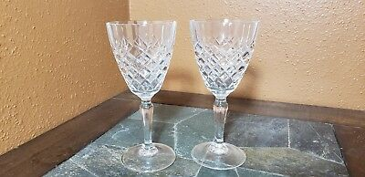 """2 Cristal D'Arques """"Dauphine"""" Water Goblets Glasses 7 1/4"""""""