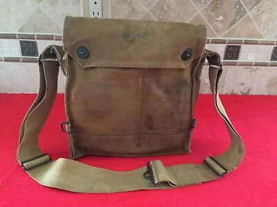 Original WW1 US Gas Mask Bag Pouch Dated 1917