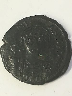 Justinian I, AE Folis-40 Ancient Byzantine Empire Coin, NGC Authenticated, RARE
