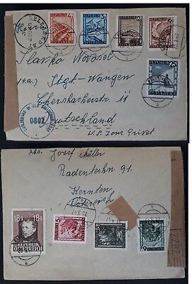 RARE 1947 Austria Censor Cover 9 stamps canc Radentheim to Germany