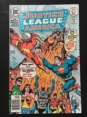 Dc Comics Justice League Of America #137 1976 F