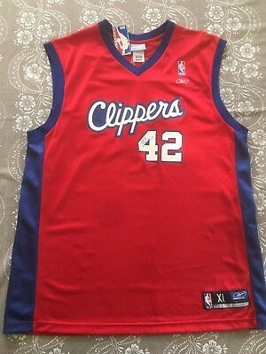 Authentic Elton Brand  42 Los Angeles Clippers Reebok Red Jersey Size XL  -Signed 6b2c1587a