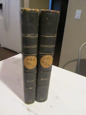 Midwifery Diseases Women Children Book Burns c1817 4th American Edition Vol 1&2