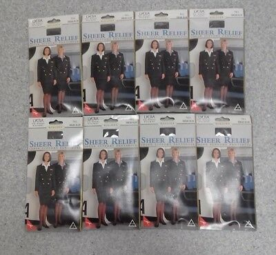 8 Pairs Sheer Relief Qantas Tall Size pantyhose suede blue sealed packets