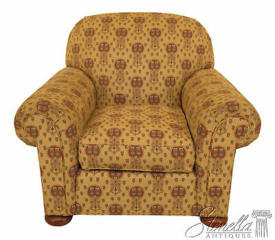 46295EC: STICKLEY Native American Print Upholstered Club Chair