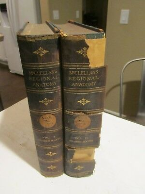 Anatomy Disease Surgery Ref. Book c1891 McClellan 97 Color Plates Vol 1&2 RARE