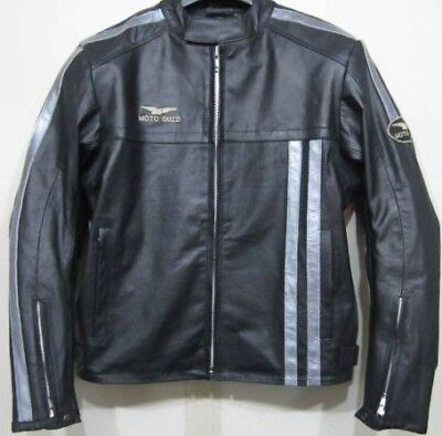 Moto Guzzi Motorbike Leather Jacket,Inside full Protection