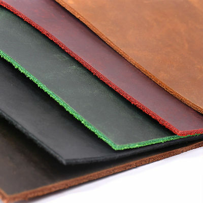 2mm Thick Genuine Leather Fabric Scrap for Wallet Bag Shoes Watchband Hat DIY