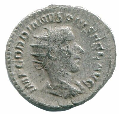 Gordian III AR Antoninianus Rome  AD 244  4th Officina PROVID AVG  ANC13120.43
