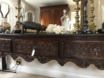 18th Century Georgian Oak Dresser Console Serving Table Antique Sideboard
