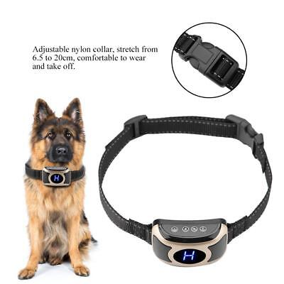 Rechargeable Accessory Dog Anti Bark Pet Collar LCD Display Shock Vibration USB