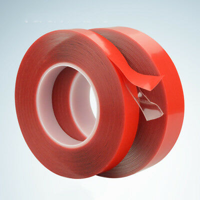 3m Red Double Sided Adhesive Tape Strong Viscosity Acrylicl Transparent NoTrace