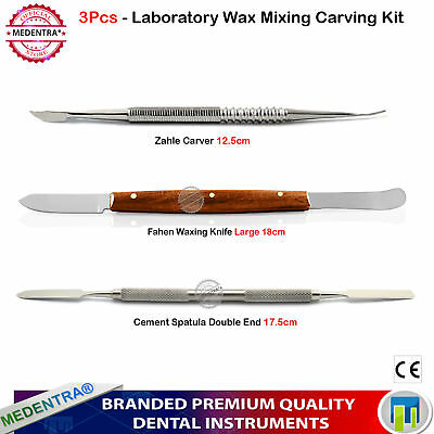 MEDENTRA® Modelling Laboratory Carving Tools Zahle Carver Wax Cutting Knife 3PCS