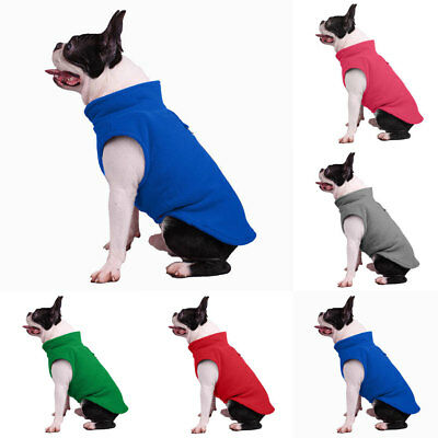 US Pet Dog Fleece Harness Vest Jumper Sweater Coat for Small Medium Dogs Jacket