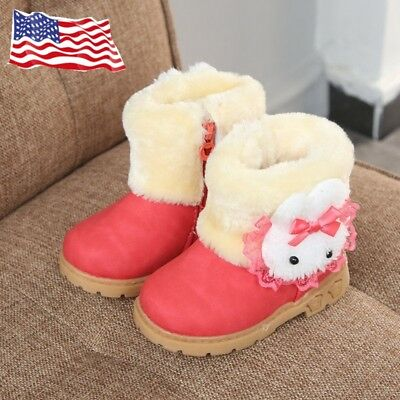 Winter Girls Boots Warm Children Boots Snow Boots Winter Shoes for Toddler Girls