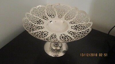 Paramount Silver Plated Rose Point Comport
