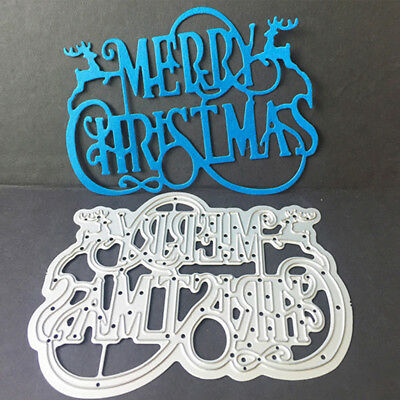 Merry Christmas Letter Mold Metal Embossing Cutting Dies Stencil Scrapbook