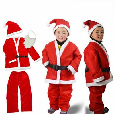 456627691c7a SANTA CLAUS COSTUME Kids Baby Boys Girls Christmas Fancy Dress ...
