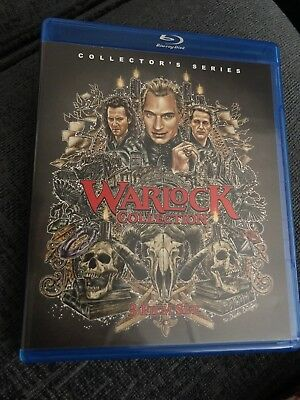 Warlock Blu Ray Collection Region A Vestron Collectors Series