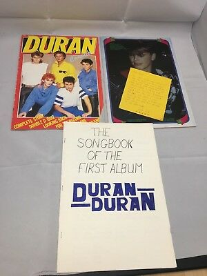 Duran Duran magazines and hand written songbook lyric book. COLLECTABLE