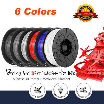 Alfawise ABS 3D Printer Filament 1.75mm +/-0.2mm 1kg 2.2lb Spool Multi Colored