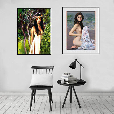 Beauty Girl Canvas Art Painting Poster Print Bedroom Wall Picture Home Decor