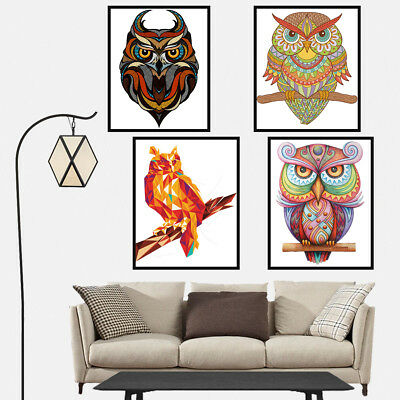 Animal Owl Canvas Art Painting Poster Print Bedroom Wall Picture Home Decor Gift