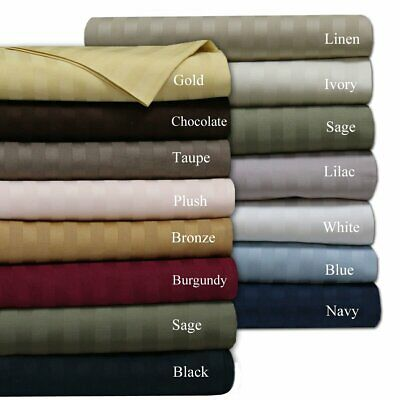 2100 Thread Count Sheet Set 6 Piece Dobby Stripe Egyptian Quality Hypoallergenic