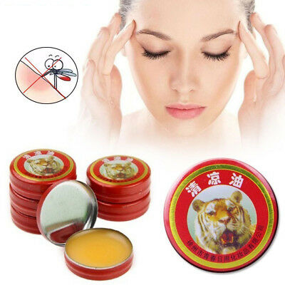 5/10pc QingLiangYou Headache Carsickness Itching Relief Tiger Essential Balm Oil