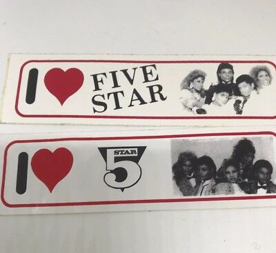 Original Vintage Vinyl Five Star Stickers Pair Unused