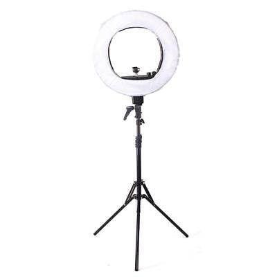 "Pro 18"" Fluorescent Dimmable Video Photo Continuous Ring Light Stand Carry Bag !"