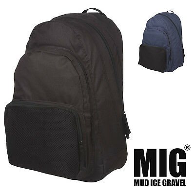 Mens Plain Large Backpack & Rucksack Bags by MIG for WORK HIKING TRAVEL etc 123