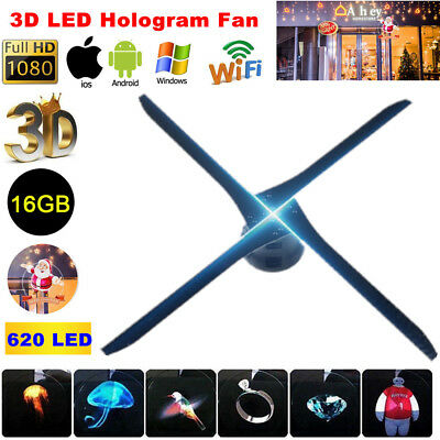 56cm 3D LED Holographic Fan Projector WIFI 16GB Hologram Advertising Displayer