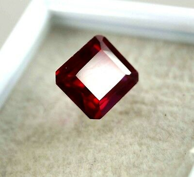 GGL Certified Natural 6.60 Ct Emerald Cut Red Ruby Mozambique Gem New Offer