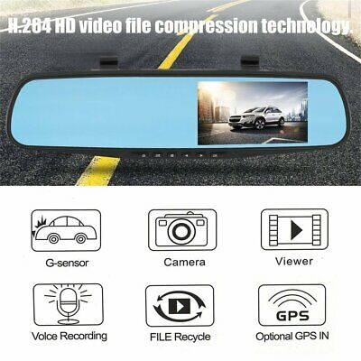 Dual Lens 4'' HD 1080P Vehicle Auto Dashcam Video Kamera Recorder Camera DVR QQ