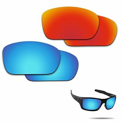 b40c26a2c6 Fiskr Anti-saltwater Polarized Replacement Lenses for Oakley Turbine 2  Pairs .