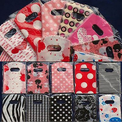 50pcs Wholesale Lots Pretty Mixed Pattern Plastic Gift Bag Shopping Bag 15 X 9CM