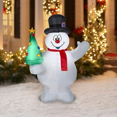 NEW Inflatable Snowmen Frosty Christmas Tree Holiday Outdoor Airblown Decoration