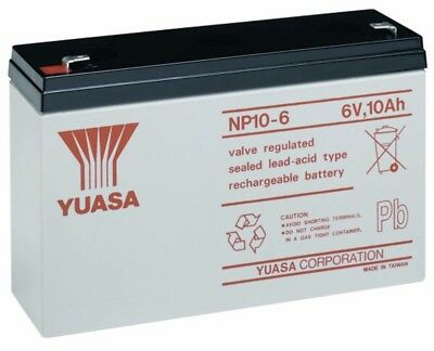 Battery Yuasa NP10-6S 6v 10ah Lead Acid Sealed Rechargeable Electric Toy Car