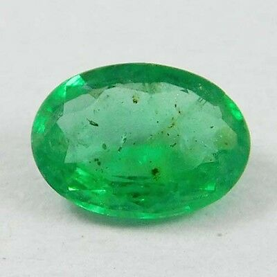 0.65 Ct Beautiful Zambian Top Green Natural Emerald Oval Cut Loose Gemstones