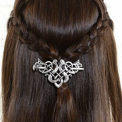 Viking Celtic Hair Sticks Hairpin-Viking Hair Clip Men Antique Silver Hair Stick