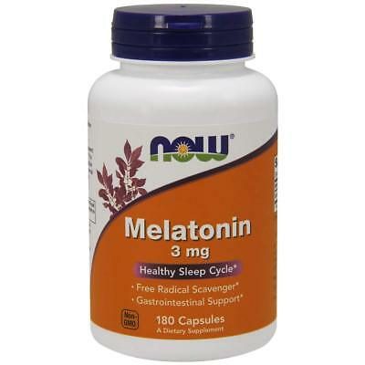 NOW FOODS MELATONINE 3mg 180 capsules Healthy Sleep Cycle