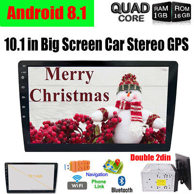 """10.1"""" Double 2DIN Car Android 8.1 Stereo Radio No DVD Player 4G WIFI GPS Camera"""