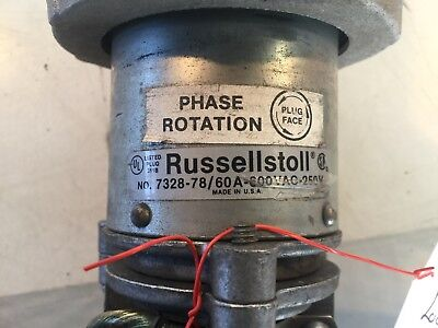 Russellstoll 7328-78/60A-600vac-250V Receptacle