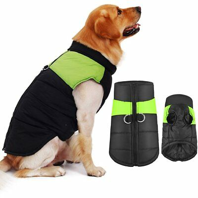 Waterproof Dog Clothes Winter Warm Padded Coat Pet Vest Jacket Small Lage Dogs