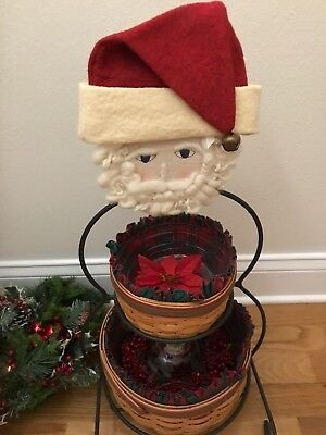 Santa Face And Hat For The Longaberger Small Wrought Iron Snowman